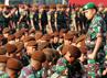 Apel Kesiapan Pembentukan Satuan Tugas Taruna tersebut dipimpin oleh Direktur Pendidikan (Dirdik) Akademi TNI Brigjen TNI Agung Suaradhana. (Puspen TNI).