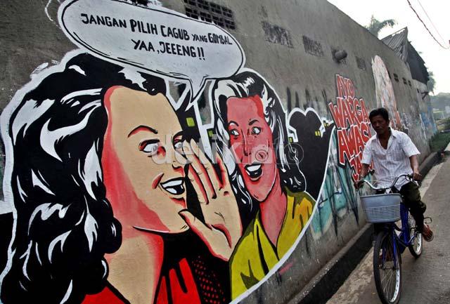Mural Pilkada Hiasi Ibukota