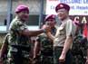 Komandan Korps Marinir Mayjen TNI (Mar) M. Alfan Baharudin menyambut kedatangan Komandan Marinir Republik Korea Letnan Jenderal Lee Ho Yeon.