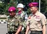 Mayjen TNI (Mar) M. Alfan Baharudin menyambut kedatangan Letnan Jenderal Lee Ho Yeon.