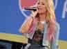 Demi mengisi acara Good Morning America di ABC TV di Rumsey Playfield, Central Park, New York City pada 6 Juli silam.Stephen Lovekin/Getty Images