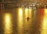 Banjir mengakibatkan kemacetan panjang di kawasan Beijing. Reuters/Stringer.