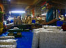 Maman (59), salah seorang pedagang tahu dan tempe di Pasar Kosambi, Bandung, harus rela kehilangan sebagian pendapatannya akibat aksi mogok produksi yang dilakukan oleh para perajin tahu dan tempe. (Djuli Pamungkas/detikBandung).