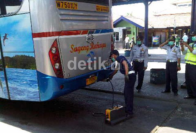 Jelang Lebaran, Lima Bus Terjaring Razia