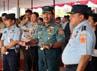 Gladi bersih peringatan HUT ke-67 TNI dihadiri Panglima TNI Laksamana Agus Suhartono.