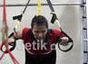 Tempat fitnes merupakan salah satu fasilitas pendukung bagi atlet pelatnas bulutangkis Cipayung.