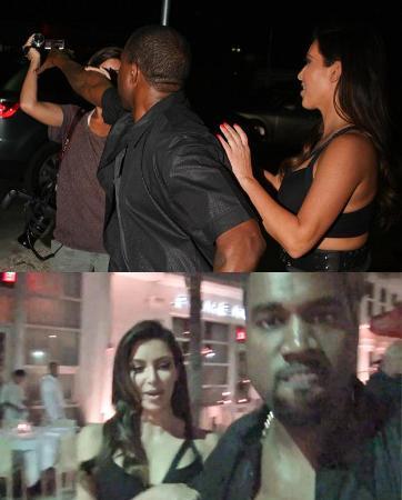 Demi Kim Kardashian, Kanye West Rebut Kamera Paparazzi