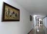 Gambar reproduksi sejarah perjalanan Banyuwangi menghiasi lorong 'green house'.