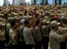 Sebanyak 1.719 taruna siaga bencana (Tagana) dan 654 tenaga seluruh kabupaten dan kota di Jawa Timur mengikuti apel tersebut.