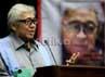 Ketua Umum MPR Taufik Kiemas berbicara di depan para tokoh saat bedah buku dirinya, Gelora Kebangsaan Tak Kunjung Padam'