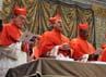 Sebanyak 115 Kardinal dari seluruh dunia sudah berkumpul di Kapel Sistina. Reuters/Osservatore Romano.