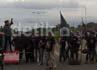 Puluhan mahasiswa dari Aliansi Mahasiswa Sulsel Pemerhati Pendidikan Nasional mencoba memblokir pintu masuk toll Reformasi dari arah jalan AP Pettarani, namun aksi ini dapat dicegah oleh aparat Polsek Panakukang.