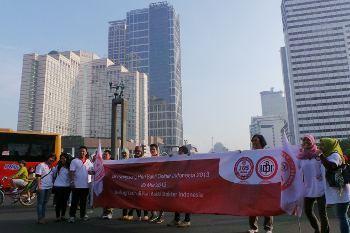 IDI Eksis di CFD, Berbagi Kasih Lewat Pesan-pesan Kesehatan