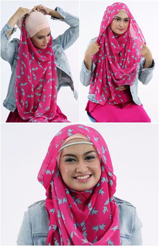 Tutorial Memakai Hijab Pashmina yang Simple untuk Sehari-hari 1