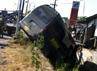 Usai menabrak, minibus nomor 50702-04 itu nyungsep ke sungai. Muhajir ArifindetikFoto.