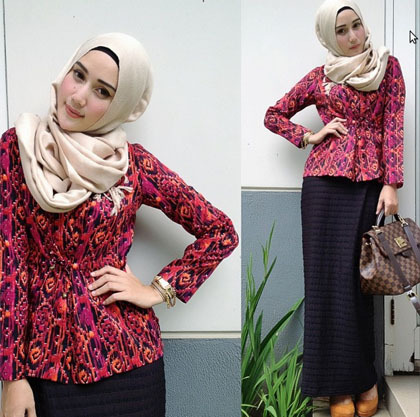 Hijab Style Novierock Populer Di Instagram Lewat Foto Outfit Of The Day 9