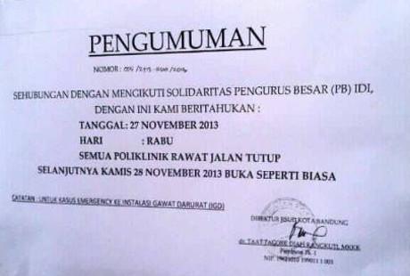 Aksi Solidaritas Rsud Kota Bandung Tutup Layanan Rawat Jalan
