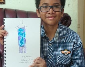 Rafi Ridwan, Desainer Tuna Rungu Berusia 11 Tahun yang Disanjung Tyra Banks