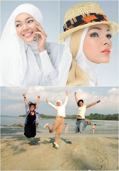 Hijab Style Penampilan Sederhana Dewi Sandra Yang Tetap Stylish