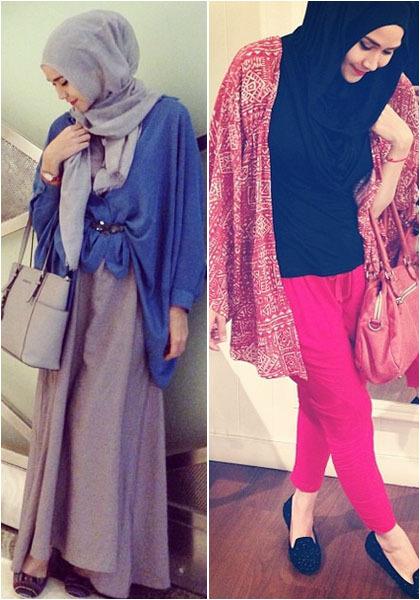 Hijab Style Tampil Kasual Ala Zaskia Adya Mecca