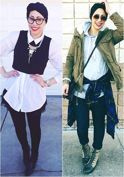 Hijab Style Gaya Streetstyle Samanthaiman Fashion Blogger Asal Palestina