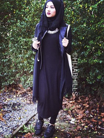 Hijab Style Gaya Street Chic Riba Zai Fashion Blogger
