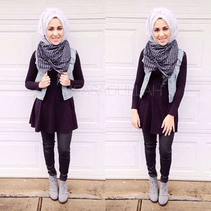 Hijab Style Cantik Dengan Scarf Ala Maryam Asadullah Hijabers Amerika 4