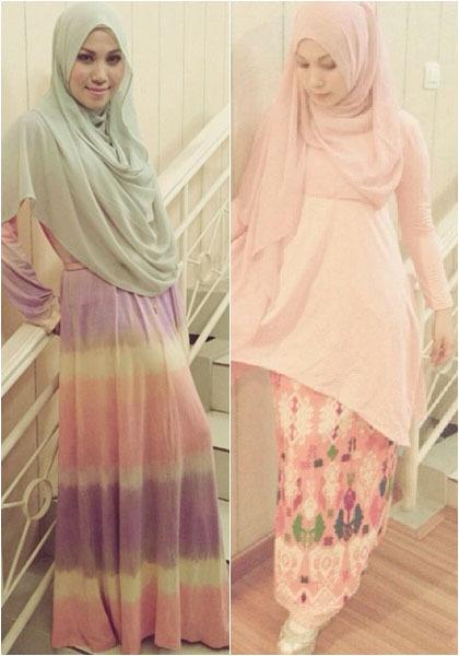 Hijab Style: Puput Melati Tampil Feminin dengan Gaya Busana Serba Pink 1