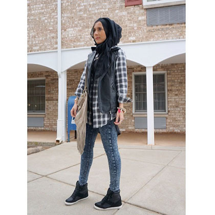 Hijab style hana tajima 3 fashion blogger ternama asal Hijab fashion style hana tajima