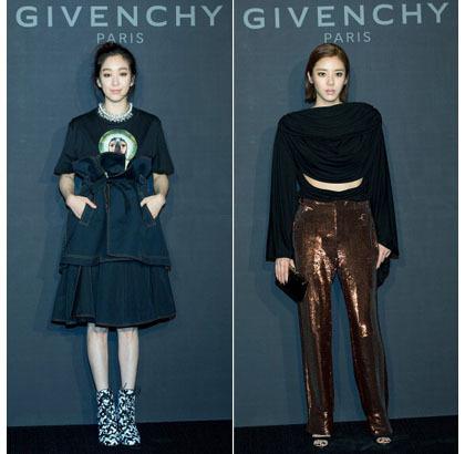 Korean Style Seleb Kompak Berbaju Hitam Di Pembukaan Butik Givenchy Korea