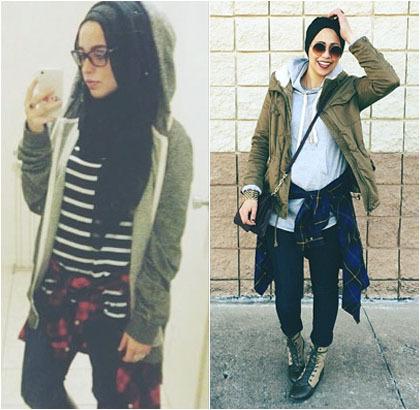 Hijab Style Tren Mengikat Kemeja Di Pinggang Ala Hijabers