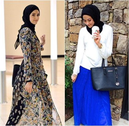Hijab Style: Bergaya Minimalis Ala Si Cantik Leena, Fashion Blogger AS 1