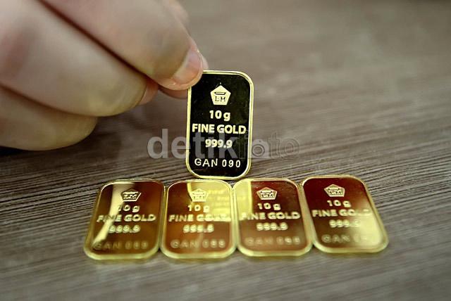 Harga Emas Antam Turun Rp 2000gram