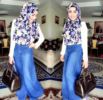 Hijab Style: Tampil Feminin dengan Rok Panjang Ala Si Manis Mya Zulkifli 6