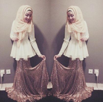Hijab Style: Tampil Feminin dengan Rok Panjang Ala Si Manis Mya Zulkifli 7