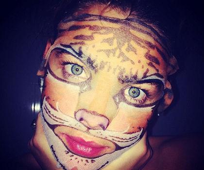 Unik, Masker Kecantikan Ini Bergambar Macan dan Panda