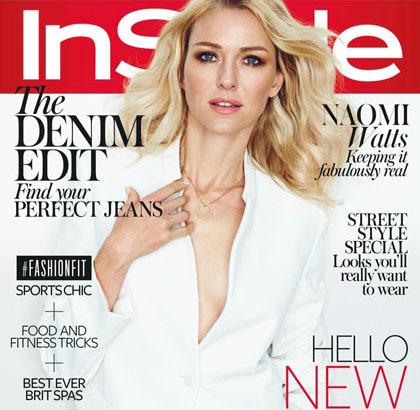 Foto Fashion: Naomi Watts di InStyle UK Februari 2015