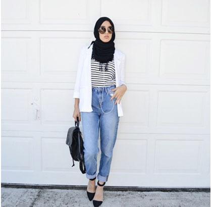 Hijab Style Padu Padan Jeans Ala Hijabers Palestina Sally Omo 4