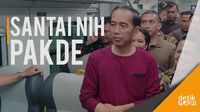 Gaya Kasual Jokowi Resmikan Kereta Bandara