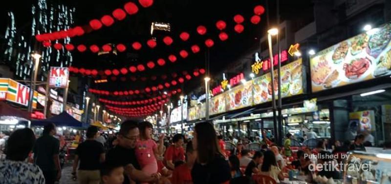 Sebelum Corona Mewabah Begini Suasana Malam Jalan Alor Kuala Lumpur