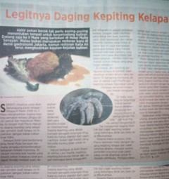 Kepiting Dilindungi Kok Dijual di Restoran Hotel Berbintang?