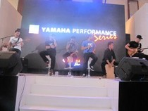 Bondan Prakoso and Fade 2 Black Panaskan Booth Yamaha