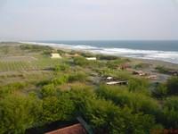 Pantai Pandan Sari dilihat dari atas Mercusuar berketinggian 50 Meter
