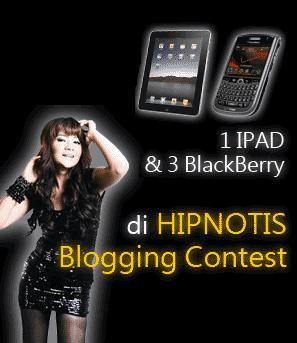Indah Dewi Pertiwi Bagi-bagi 1 Ipad, 3 BB dan 50 MP3 Player Untuk Blogger