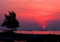 Senja di Dermaga Barat Karimunjawa