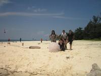 pemandangan yang sangat indah di Pulau Seruni