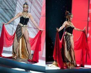 Ini Aksi Nadine dengan Busana Wayang di Miss Universe