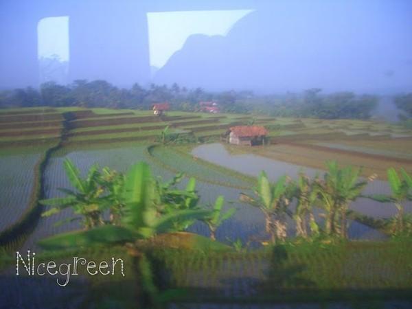 Pemandangan dari balik jendela KA