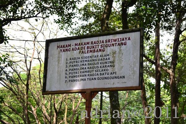 Daftar Makam Di Bukit Siguntang