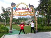 Gerbang Kawasan Permainan Kids Adventure Rumah Air